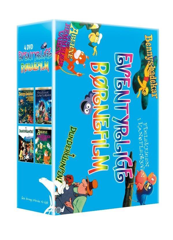 Køb 4-box: Eventyrlige Børnefilm