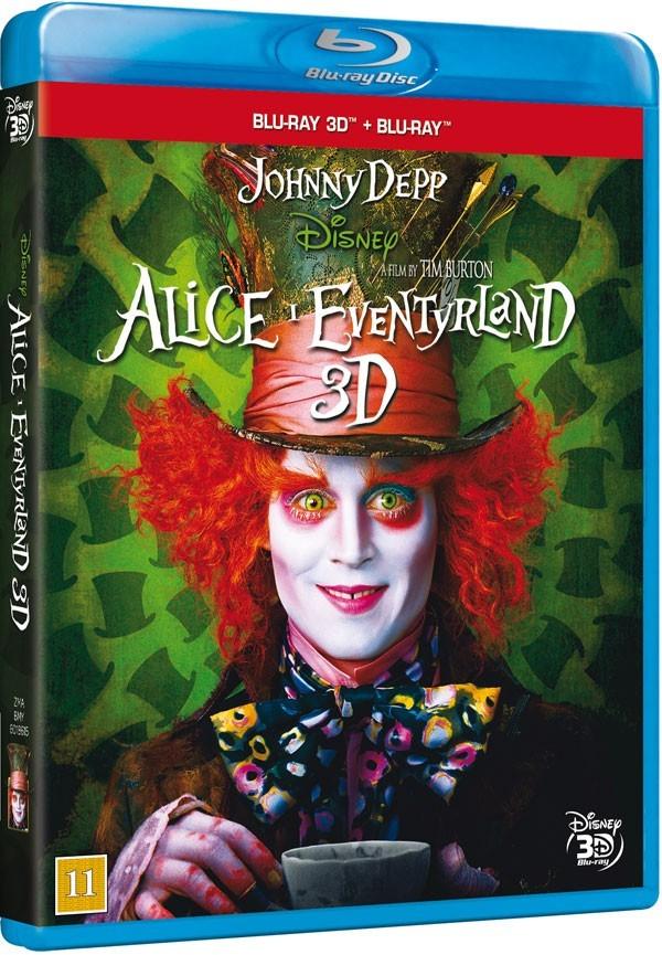 Køb Alice I Eventyrland 3D [2-disc Blu-ray 3D + Blu-ray]