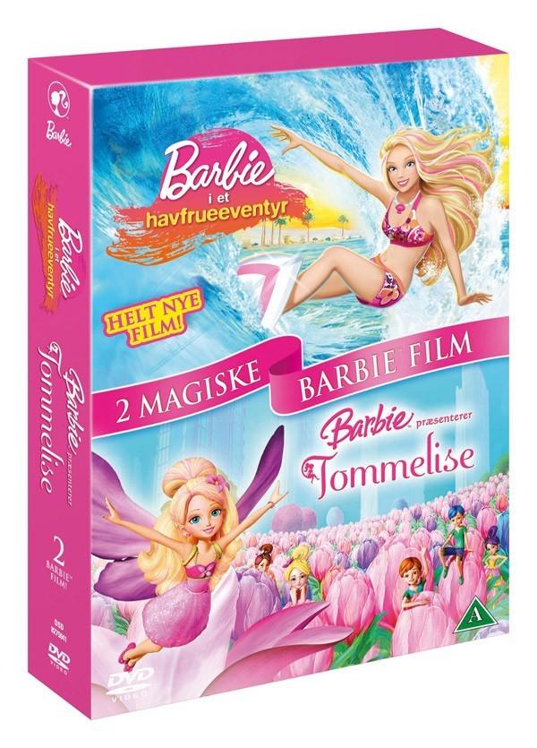 Køb 2 Magiske Barbie Film: Barbie i et Havfrueeventyr + Barbie præsenterer Tommelise
